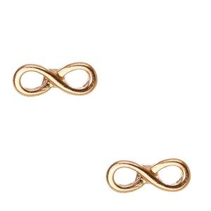 Gold Infinity Earrings NWOT F21
